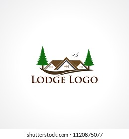 lodge logo vector, icon, element, and template