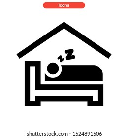 lodging icon isolated sign symbol vector illustration - high quality black style vector icons