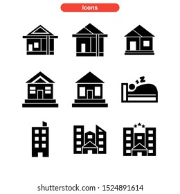 lodging icon isolated sign symbol vector illustration - Collection of high quality black style vector icons