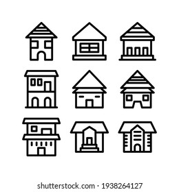 lodging icon or logo isolated sign symbol vector illustration - Collection of high quality black style vector icons