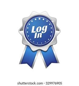 log In Blue Vector Icon Design