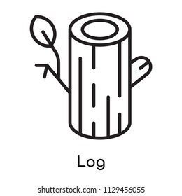 Log icon vector isolated on white background for your web and mobile app design, Log logo concept