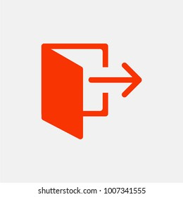 Log out & exit icon. vector.