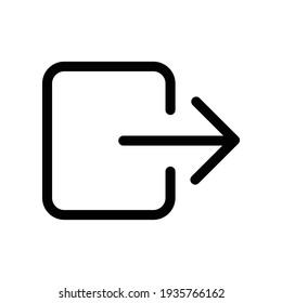 log out icon vector. vector symbol logout , arrow and door icon exit. Logout sign icon. Log out symbol. Arrow.