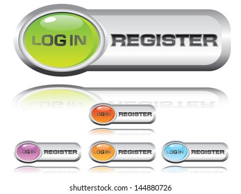 Log in and register icon