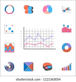 Logarithmic diagram icon. Detailed set of Charts Diagramms icons. Premium quality graphic design sign. One of the collection icons for websites, web design, mobile app on white background
