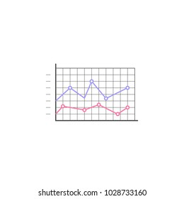 Logarithmic diagram icon. Element of colored charts and diagrams for mobile concept and web apps. Icon for website design and development, app development. Premium icon on white background