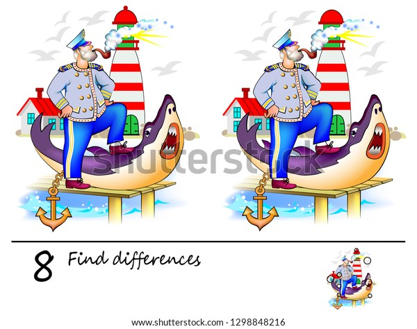 It is a picture of Find the Difference Printable with regard to worksheet