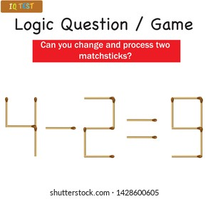 Logic Questions Game - Matchstick game for children - education activities game for childrens - IQ GAME