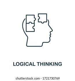 Logical Thinking icon from personality collection. Simple line Logical Thinking icon for templates, web design and infographics