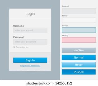 Login form modal window