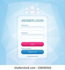 Login form page
