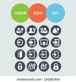 Login icon set