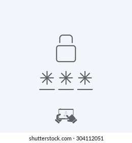 Login icon - Thin series