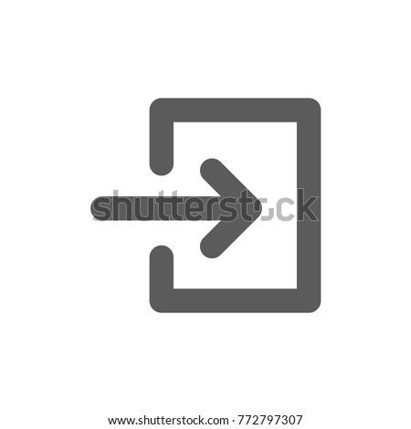 Login Icon Vector Stock Vector (Royalty Free) 772797307