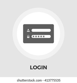 Login icon vector. Flat icon isolated on the white background. Editable EPS file. Vector illustration.