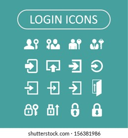 Login icons for web