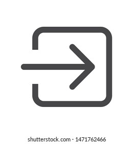 Login square arrow vector icon, simple sign for web site and mobile app.