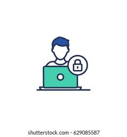Login user authorization vector illustration