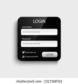 Login web dark design screen template