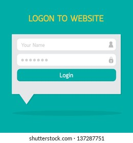 Login website template flat design. EPS10