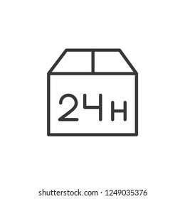 Logistic 24hours Modern Simple UI Vector Icon