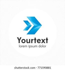 Logistic and arrow symbol logo, delivery logo design, arrow icon. vector illustration