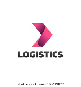 Logistic company logo. Arrow icon. Delivery icon. Arrow logo. Business logo. Arrow vector. Delivery service logo. Web icon. Network icon.  Digital icon. Technology icon. Marketing icon.