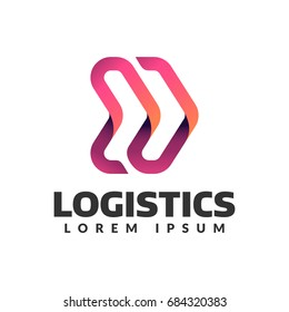 Logistic company logo. Arrow icon. Delivery icon. Arrow logo. Business logo. Arrow vector. Delivery service logo. Web,Network, Digital, Technology, Marketing icon.