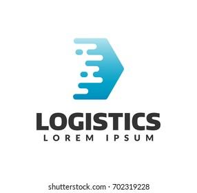 Logistic company logo. Arrow icon. Delivery icon. Arrow logo. Business logo. Arrow vector. Delivery service logo. Web,Network, Digital, Technology, Marketing icon.