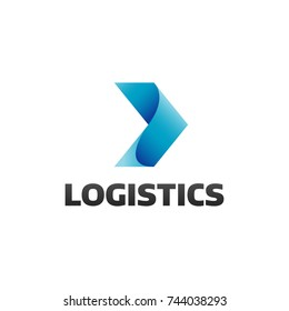 Logistic company logo. Arrow icon. Delivery icon. Arrow logo. Business logo. Arrow vector. Delivery service logo. Web icon. Network, Digital, Technology, Marketing icon.