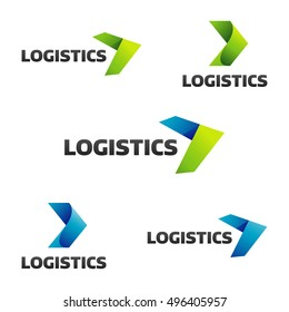 Logistic company vector logo. Arrow icon. Arrow logo. Business logo. Arrow vector. Delivery service logo. Web icon. Network icon.  Digital icon. Technology icon. Marketing icon.