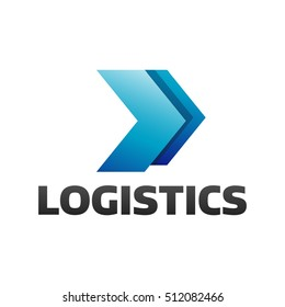 Logistic company vector logo. Arrow icon. Delivery icon. Arrow logo. Business logo. Arrow vector. Delivery service logo. Web icon. Network icon.  Digital icon. Technology icon. Marketing icon.
