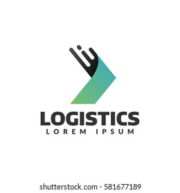 Logistic company vector logo. Arrow icon. Delivery icon. Arrow logo. Business logo. Arrow vector. Delivery service logo. Web, Digital, Marketing, Network icon. Technology icon.