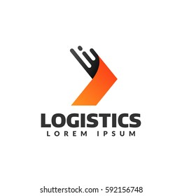 Logistic company vector logo. Arrow icon. Delivery icon. Arrow logo. Business logo. Arrow vector. Delivery service logo. Web, Digital, Speed, Marketing, Network icon.