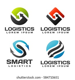 Logistic company vector logo. Delivery icon. Arrow logo. Delivery service logo. Web, Marketing, Technology, Network icon. Business icon. Company, Corporate, Finance, Union, Business logo.