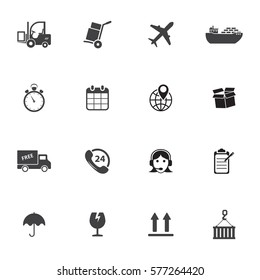 Logistic & delivery icons. Vector illustration