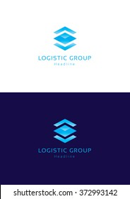 Logistic group logo template.