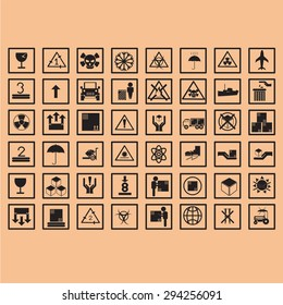 logistic icon packing symbols