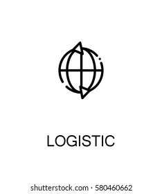 Logistic icon. Single high quality outline symbol for web design or mobile app. Thin line sign for design logo. Black outline pictogram on white background