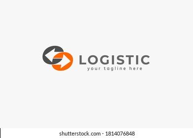 Logistic Logo, arrow design logo template, vector illustration