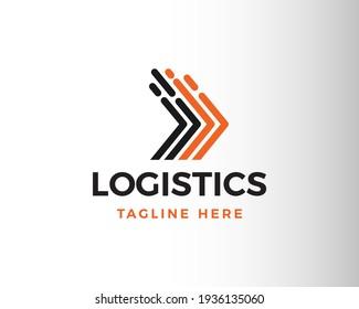logistic logo line logistic logo logistic symbol logo arrow logo fast delivery