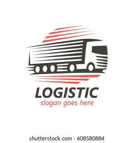 Logistic Logo Template. (vector)