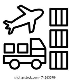 Logistic Service Provider Vector Icon