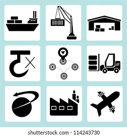 logistic, shipping icon set