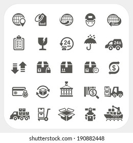 Logistic and Shipping icons set