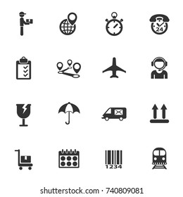 logistic vector icons for your creative ideas