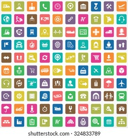 logistics 100 icons universal set for web and mobile