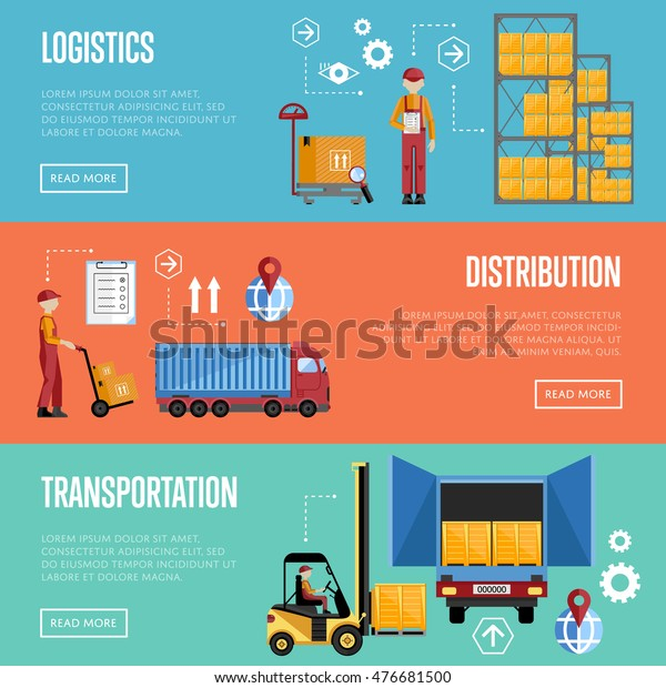 Logistics Concept Technology Via Supply Chain Stock Vector