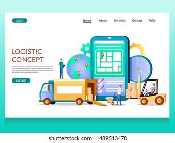 Truck Logistic Logo Stock Vectors, Images & Vector Art